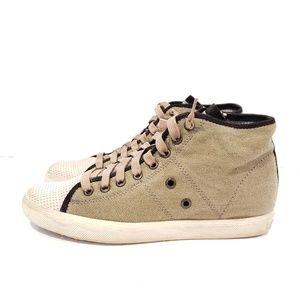 Dolce Vita Zora olive green high top sneakers